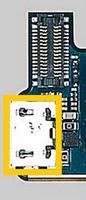 Sony Ericsson Xperia X10 разъем на плате