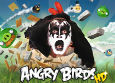Angry Birds группа KISS
