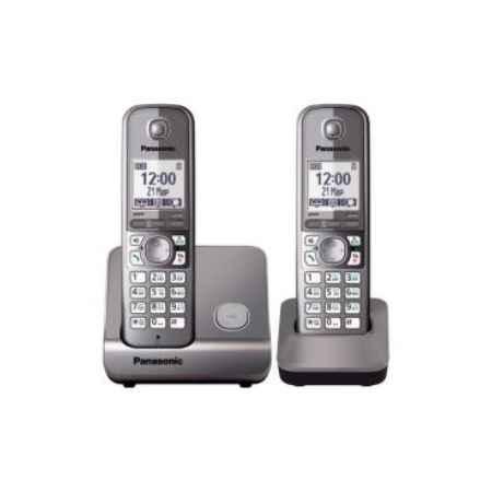 Купить Радиотелефон DECT Panasonic KX-TG6712RUM серый