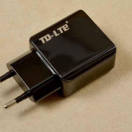 Купить Сетевое зарядное устройство TE-LED с двумя USB-выходами (черное)