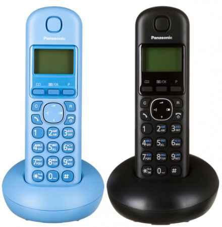 Купить Panasonic KX-TGB212 (черный, голубой)