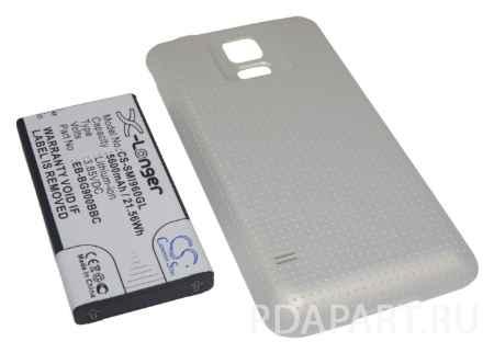 Купить Аккумулятор Samsung Galaxy S5 SM-G900 5600mah золотой