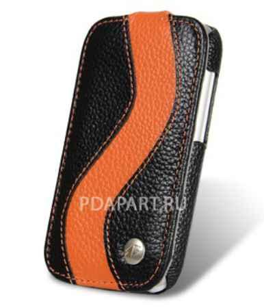 Купить Чехол HTC One SV - Melkco Jacka Type SE черный с оранжевым