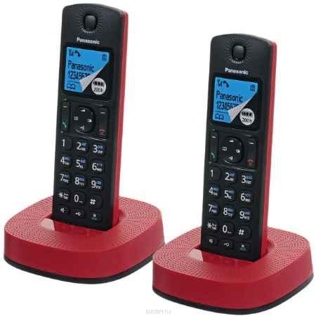 Купить Panasonic KX-TGC312RUR, Black Red DECT телефон