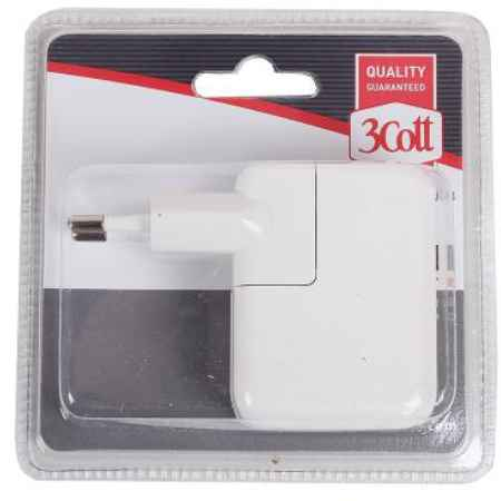 Купить Сетевое зарядное устройство 3Cott 3C-WC-183W-2USB 2xUSB белый