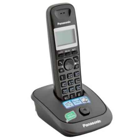 Купить Радиотелефон DECT Panasonic KX-TG2511RUT темно-серый металлик