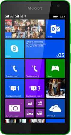 Купить Microsoft Lumia 535 Dual SIM (зеленый)