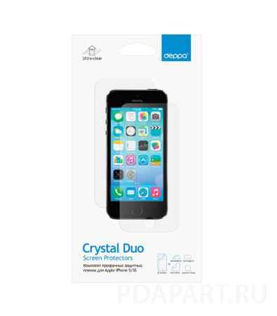 Купить Защитная пленка Apple iPhone 5, 5S - Deppa глянец - на лицевую и заднюю часть