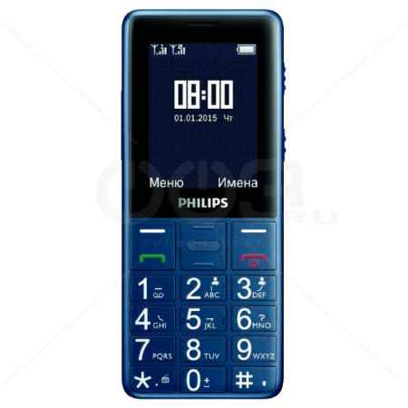 Купить Philips Xenium E311 Navy Blue