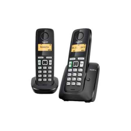 Купить Радиотелефон DECT Gigaset A220 A DUO черный