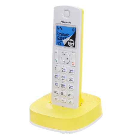 Купить Panasonic KX-TGC310RUY, White Yellow DECT телефон