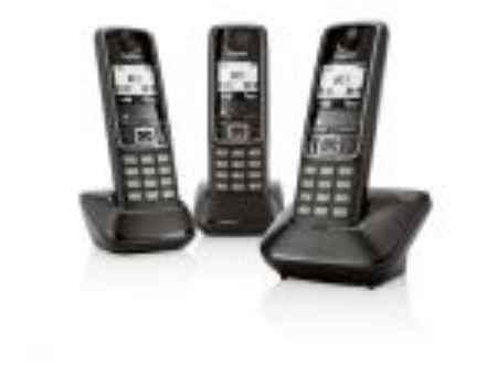 Купить Радиотелефон Gigaset A420 TRIO Black (3 трубки)
