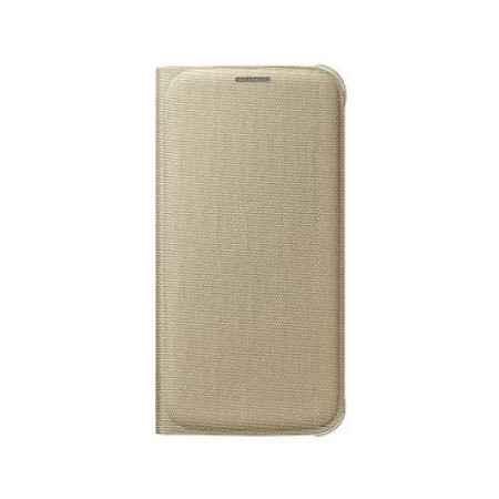 Купить Чехол-книжка Samsung EF-WG920BFEGRU для Samsung Galaxy S6 Flip Wallet золотистый