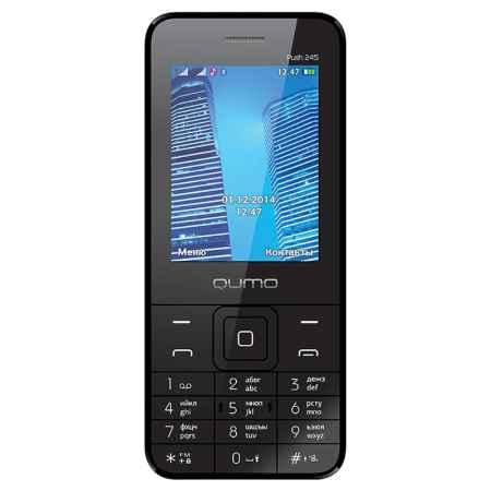 Купить Мобильный телефон Qumo Push 245 black, черный