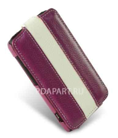 Купить Чехол HTC One X / X+ - Melkco Jacka Type Special Edition фиолетовый с белым