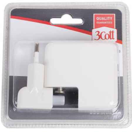 Купить Сетевое зарядное устройство 3Cott 3C-WC-184W-4USB 4xUSB белый