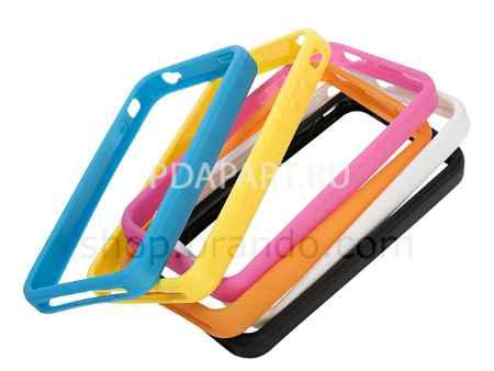 Купить Чехол защитный Bumper для Apple Iphone 4 желтый Brando