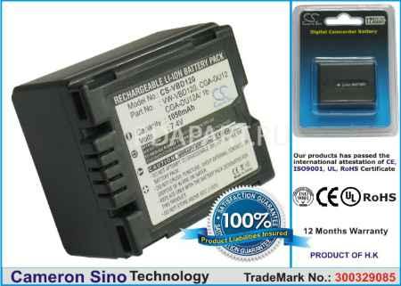 Купить Аккумулятор Panasonic VW-VBD120 1050mah CS-VBD120