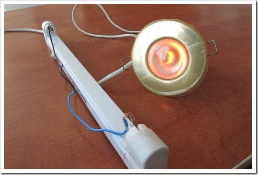 Проверка лампы при помощи тестера