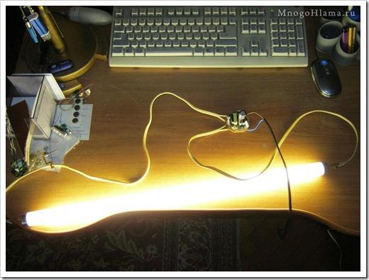 Техническая проверка люминесцентной лампы